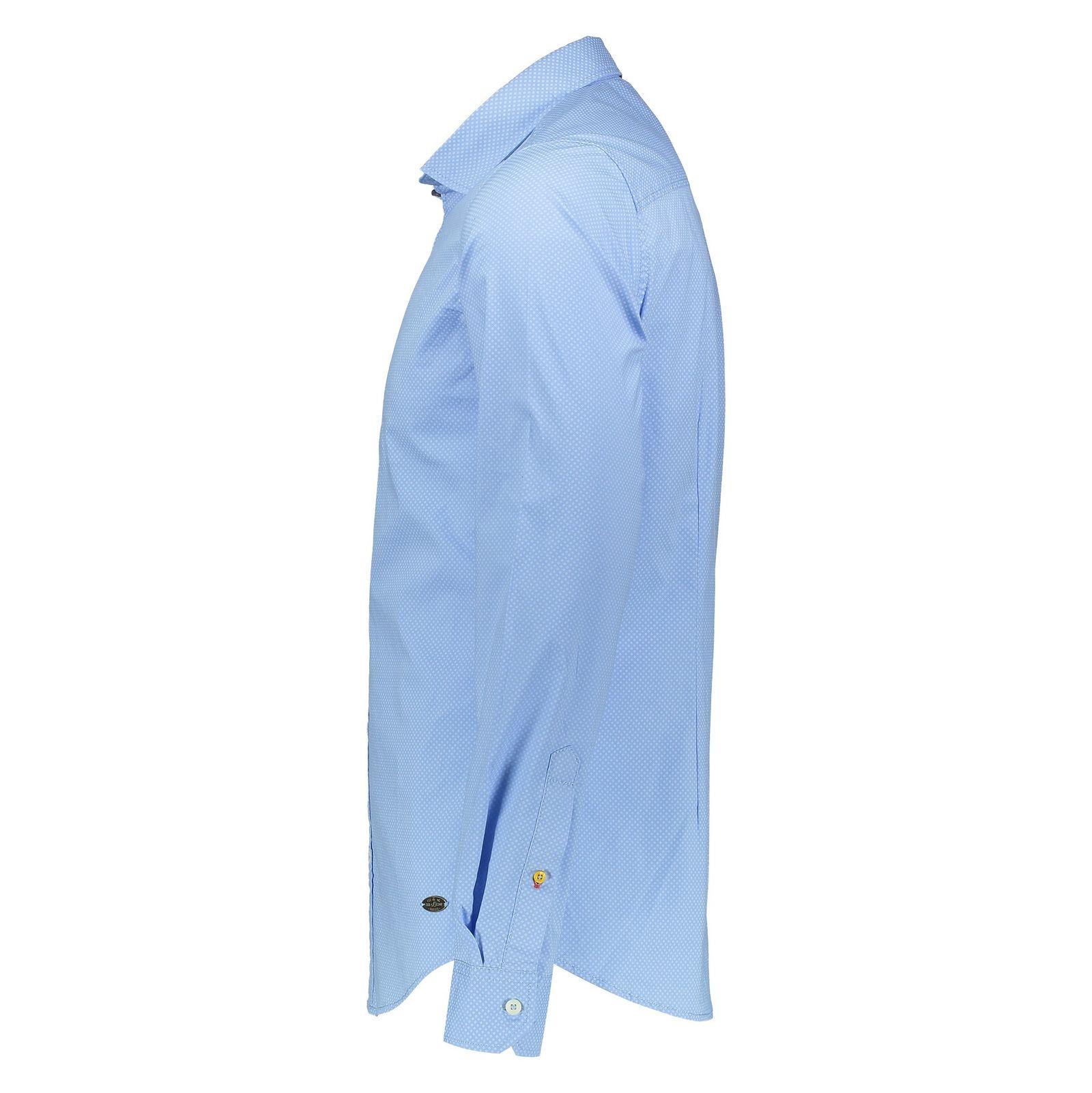 پیراهن نخی آستین بلند مردانه - اس.اولیور - آبي روشن - 3