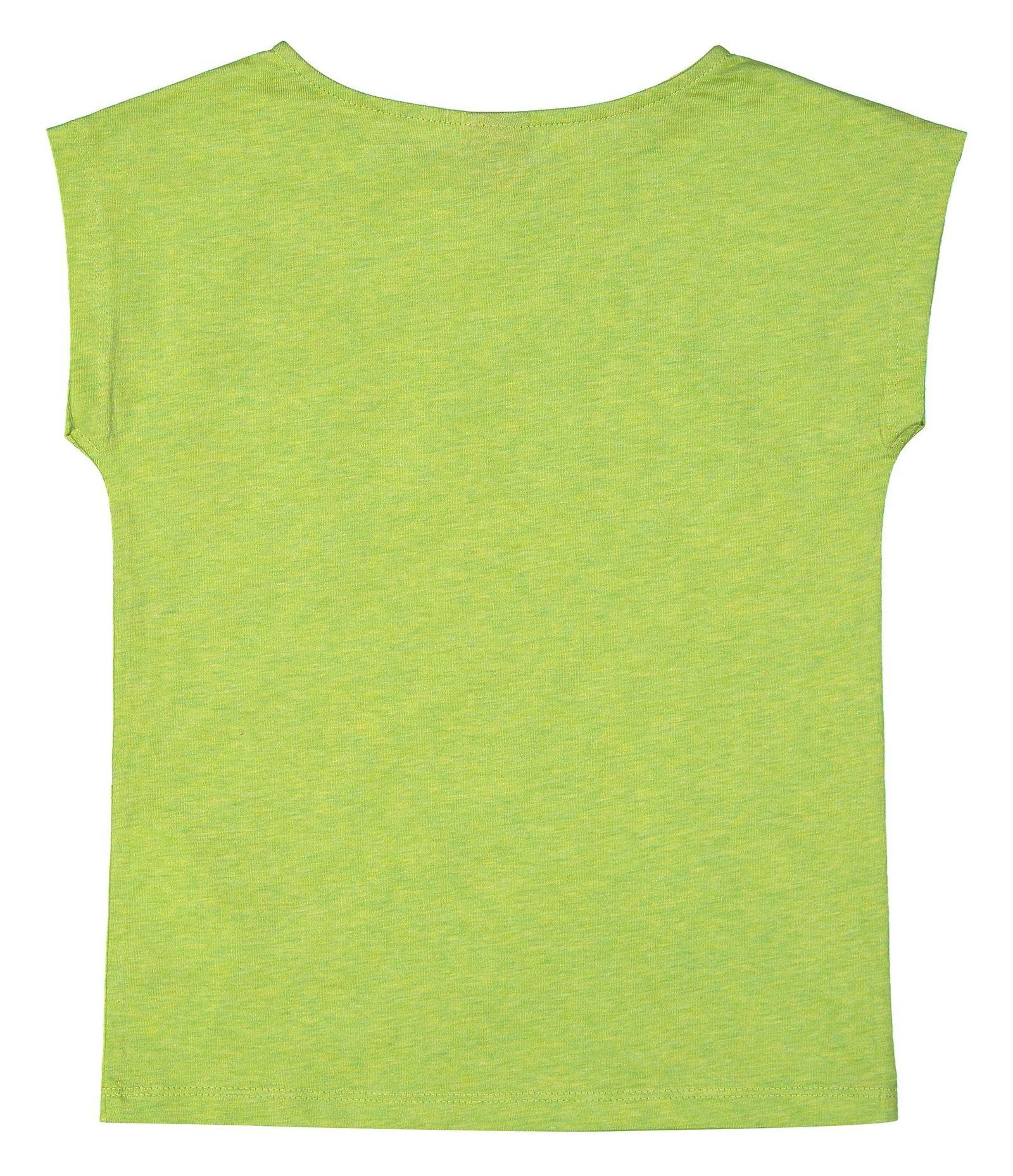 تی شرت نخی یقه گرد دخترانه - اس.اولیور - سبز روشن - 2