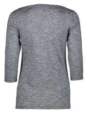 تی شرت نخی آستین سه ربع زنانه - اس.اولیور - سرمه اي - 2