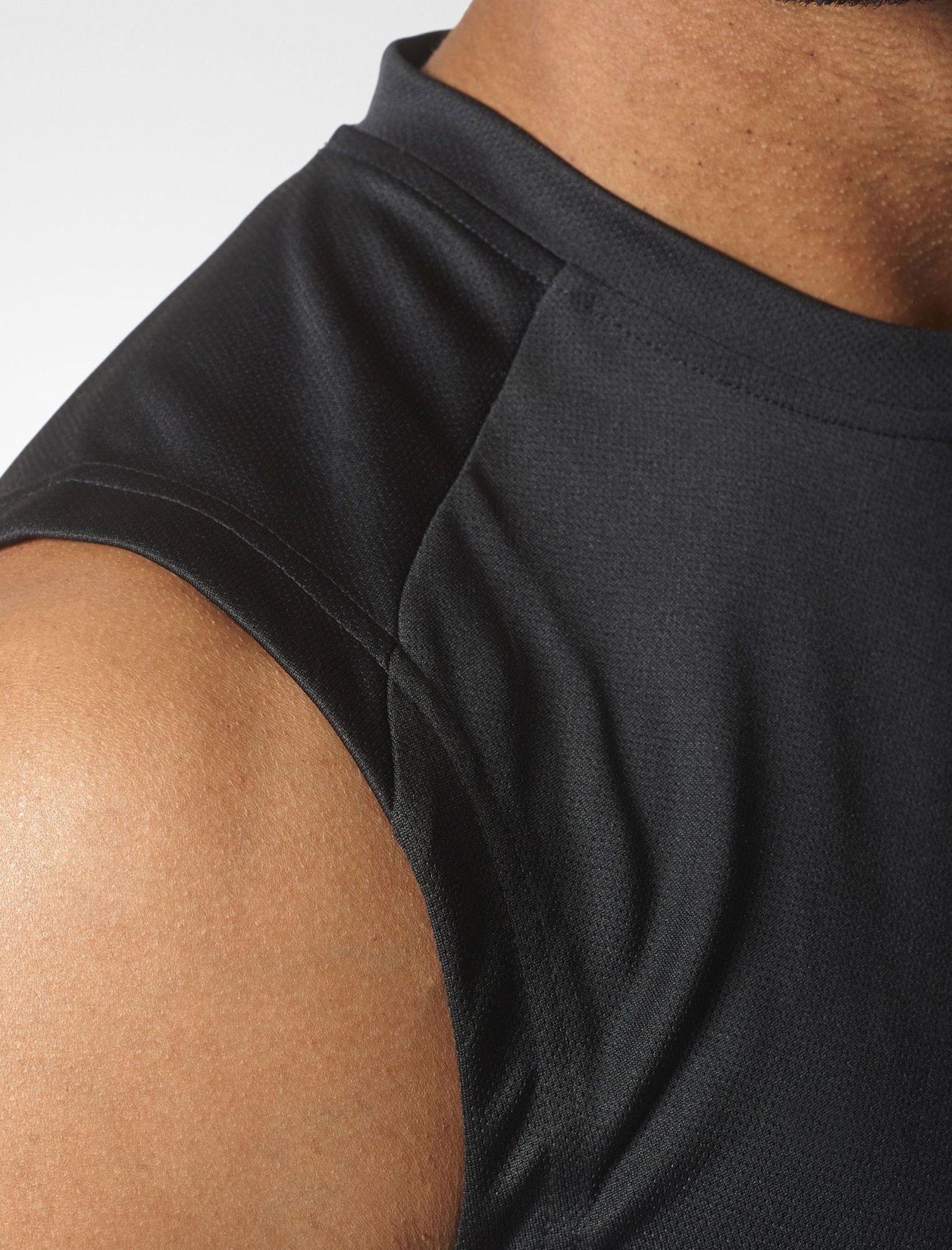 تاپ ورزشی یقه گرد مردانه BVD Sporty Design To Move PLAIN - آدیداس - مشکي - 7