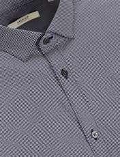 پیراهن نخی آستین بلند مردانه - جک اند جونز - سرمه اي - 5