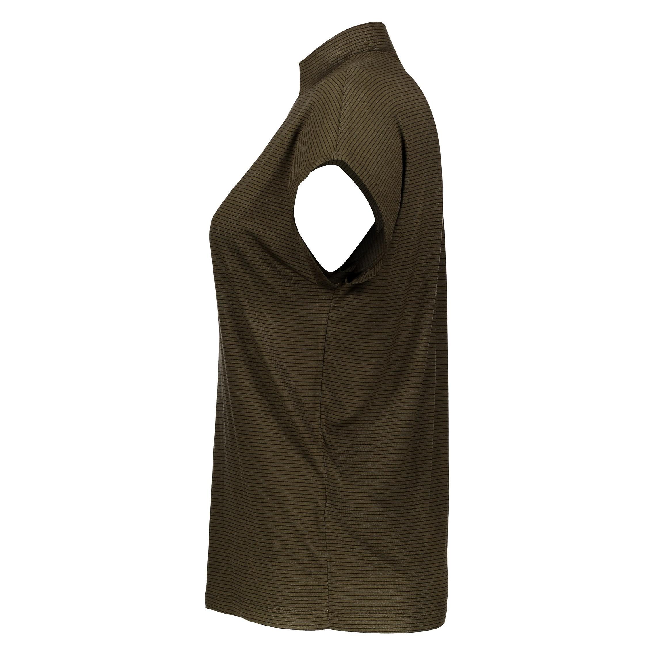 تی شرت ویسکوز یقه ایستاده زنانه - پی سز - زيتوني - 3
