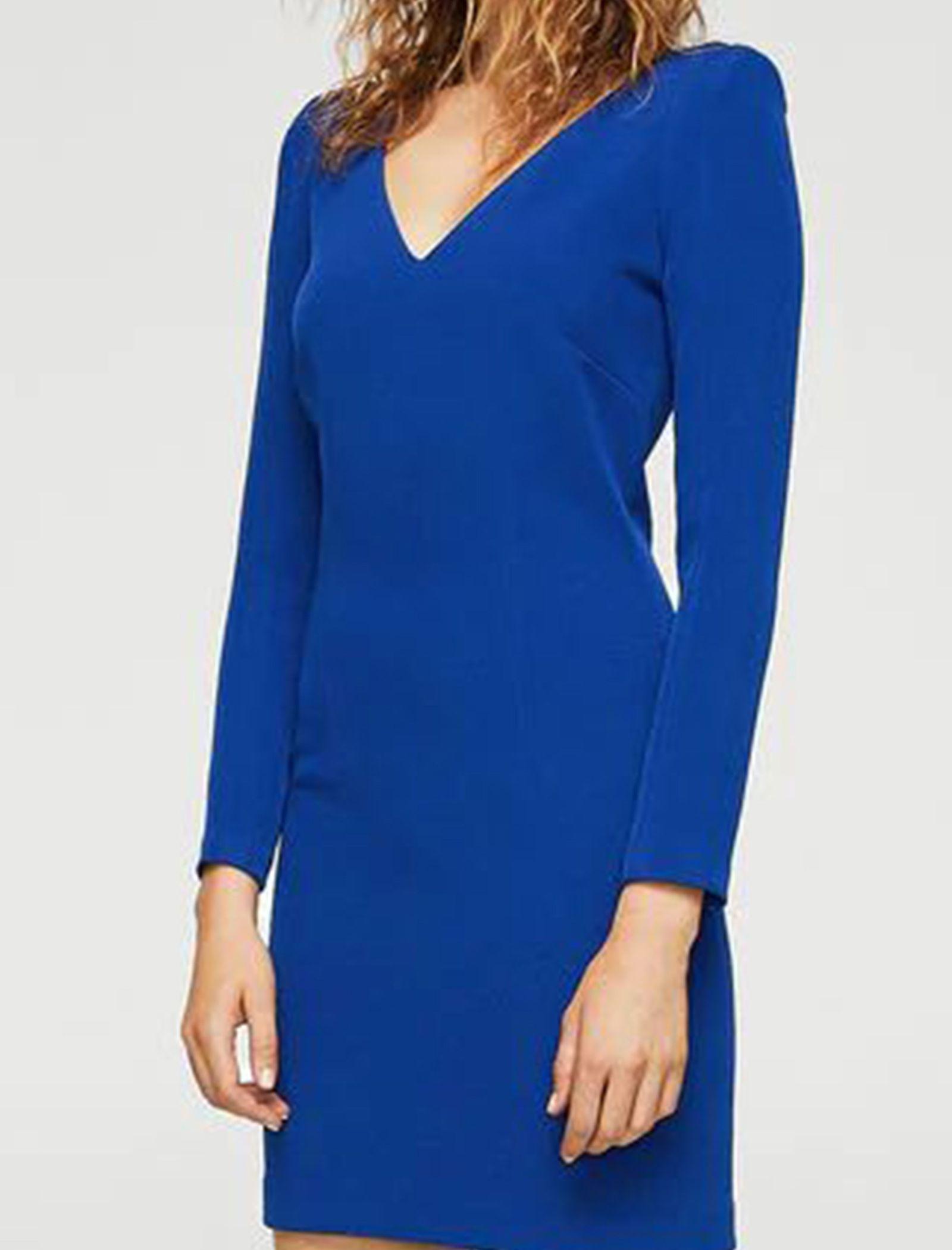 Woman Mini Dress - مانگو - آبي - 2