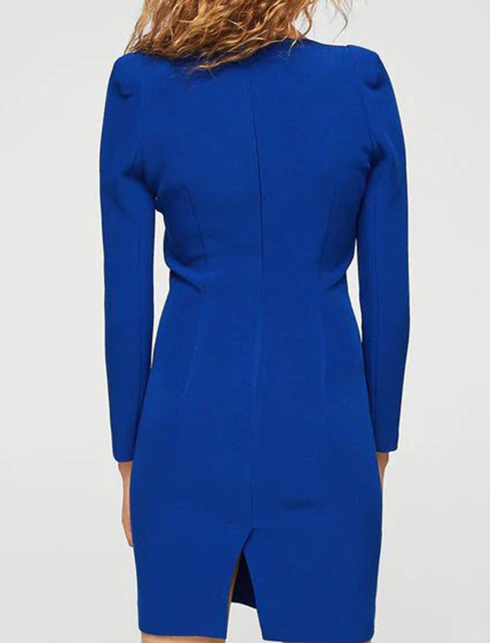 Woman Mini Dress - مانگو - آبي - 3