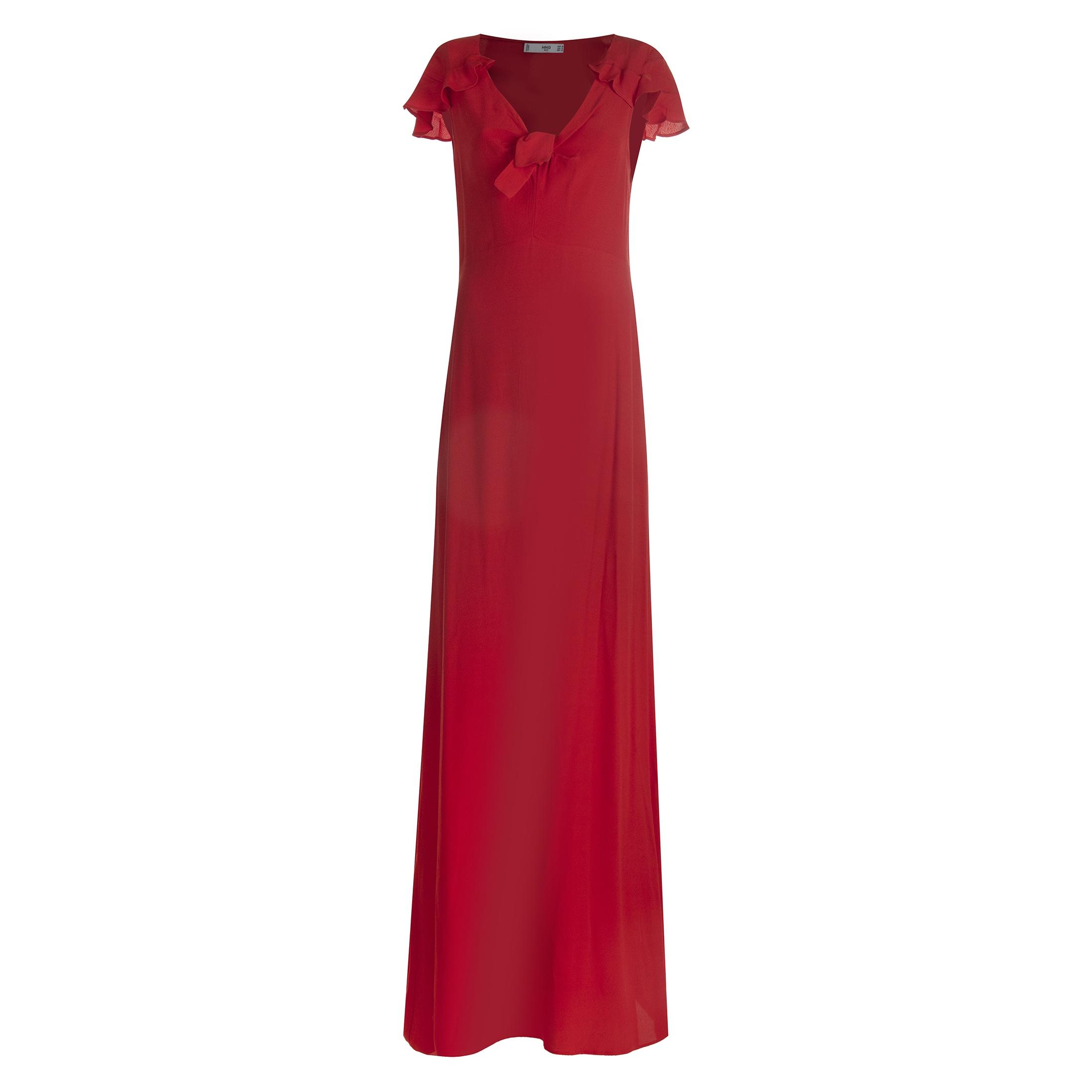 پیراهن ویسکوز بلند زنانه - مانگو