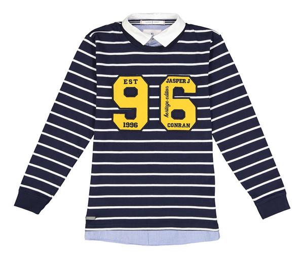 تی شرت نخی یقه برگردان پسرانه - جی بای جسپرکنران