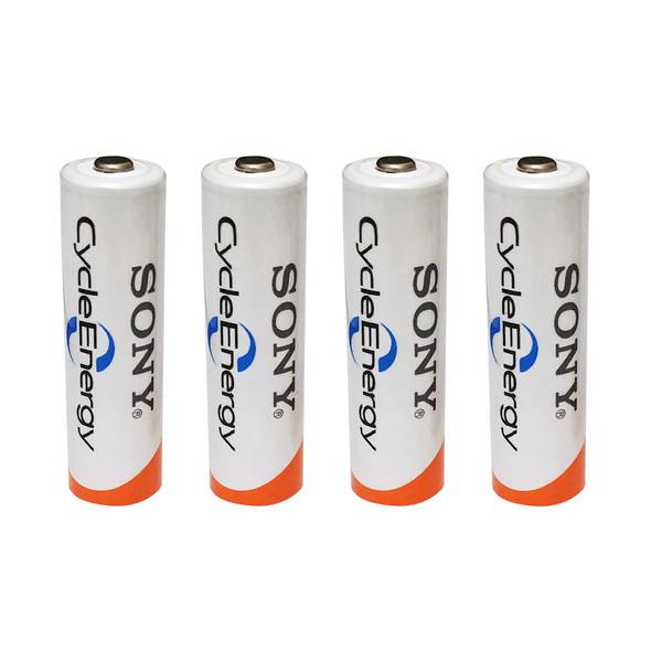 باتری قلمی قابل شارژ سونی کد HR6 ظرفیت 3000 میلی آمپرساعت بسته 4 عددی