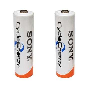 باتری قلمی قابل شارژ سونی کد HR6 ظرفیت 3000 میلی آمپرساعت بسته 2 عددی