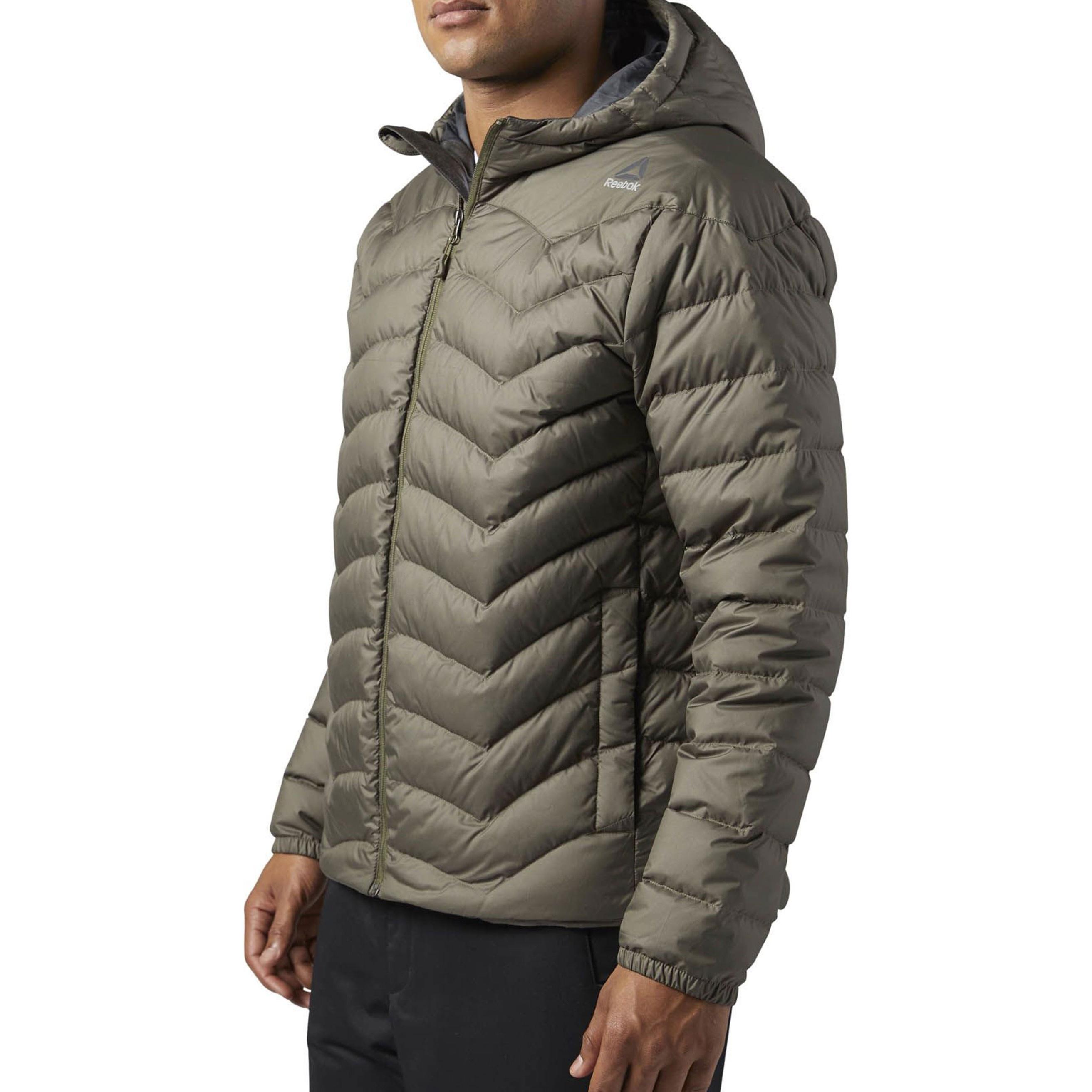 کاپشن کوتاه مردانه Down Jacket - ریباک - زيتوني قهوه اي - 4
