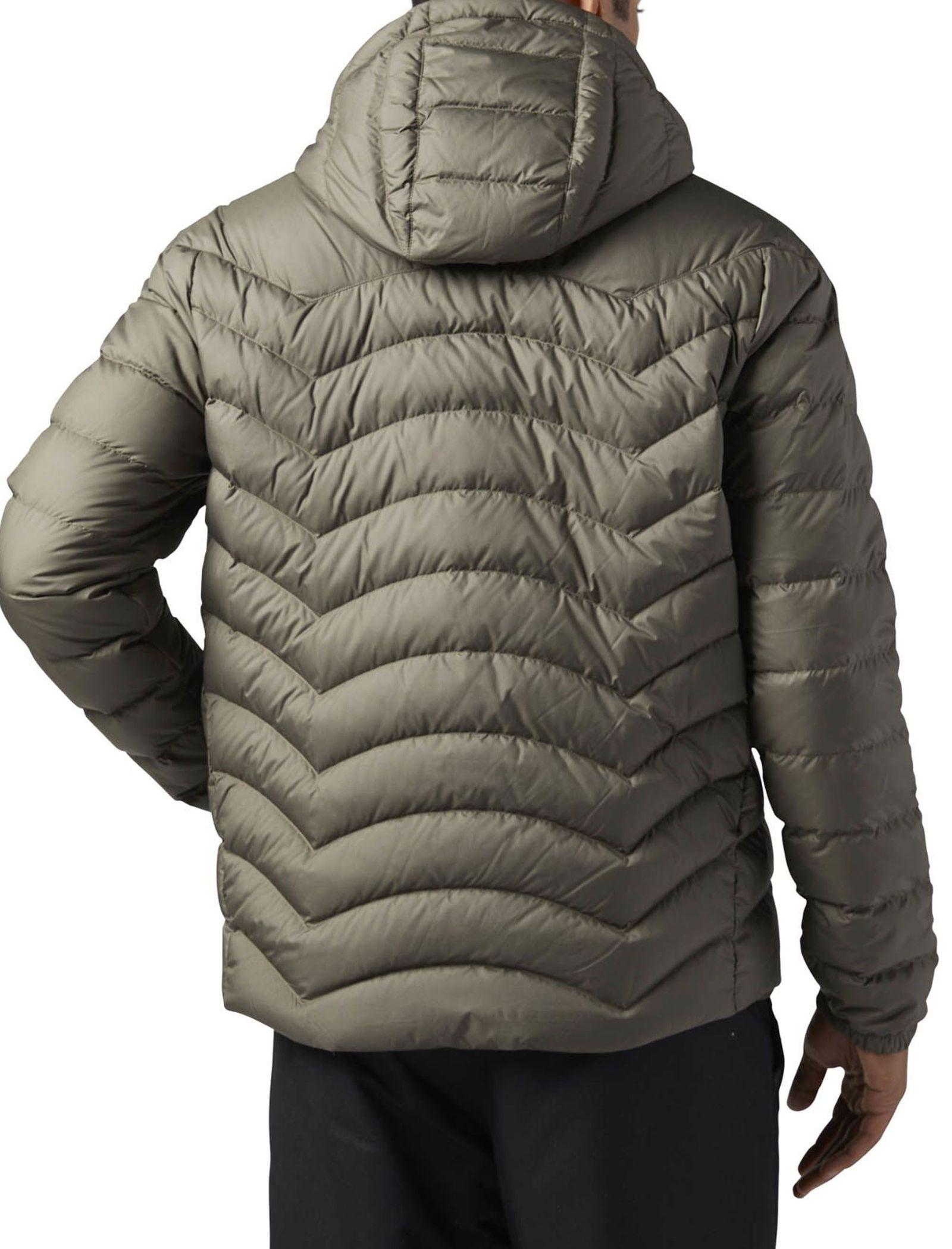 کاپشن کوتاه مردانه Down Jacket - ریباک - زيتوني قهوه اي - 5