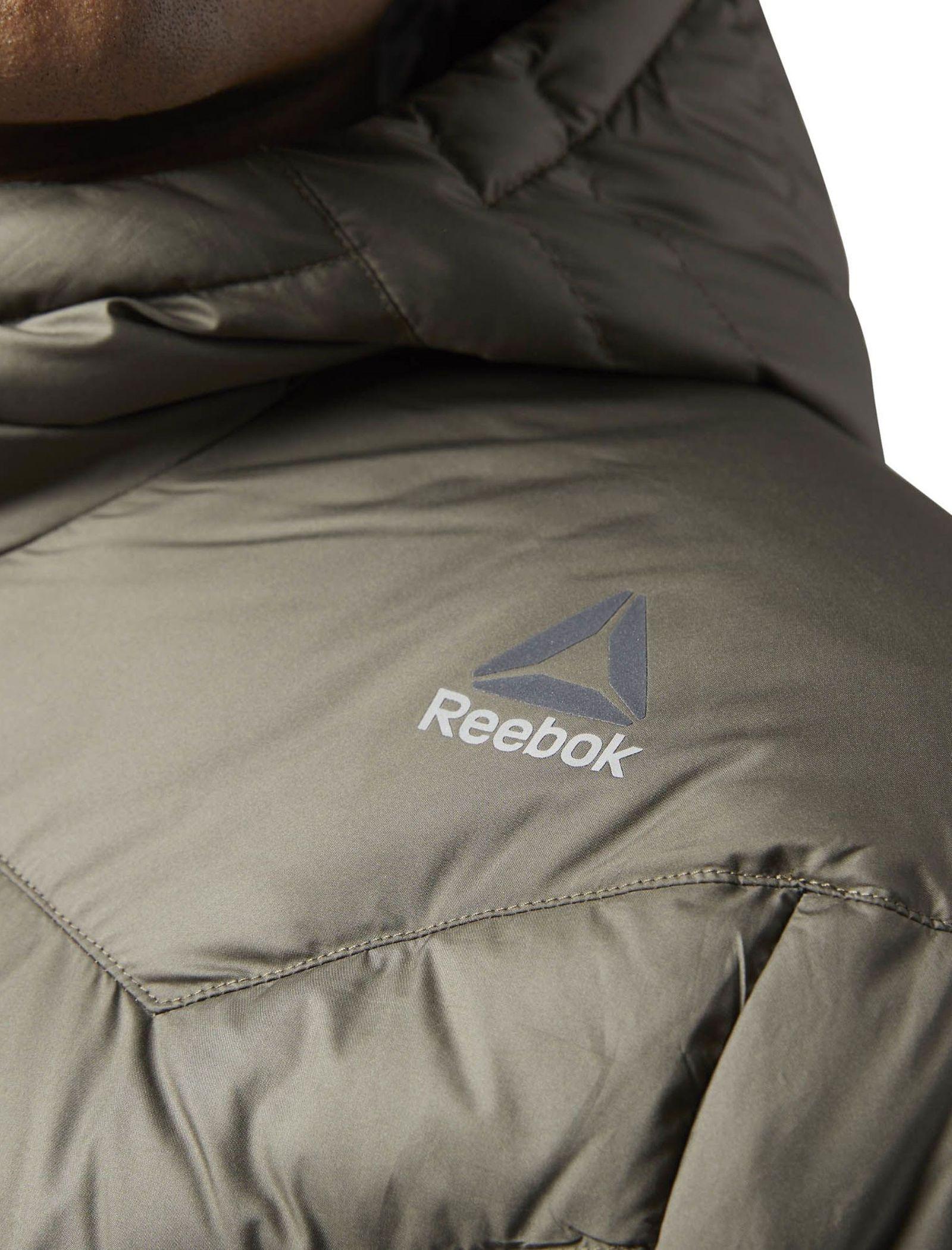 کاپشن کوتاه مردانه Down Jacket - ریباک - زيتوني قهوه اي - 6