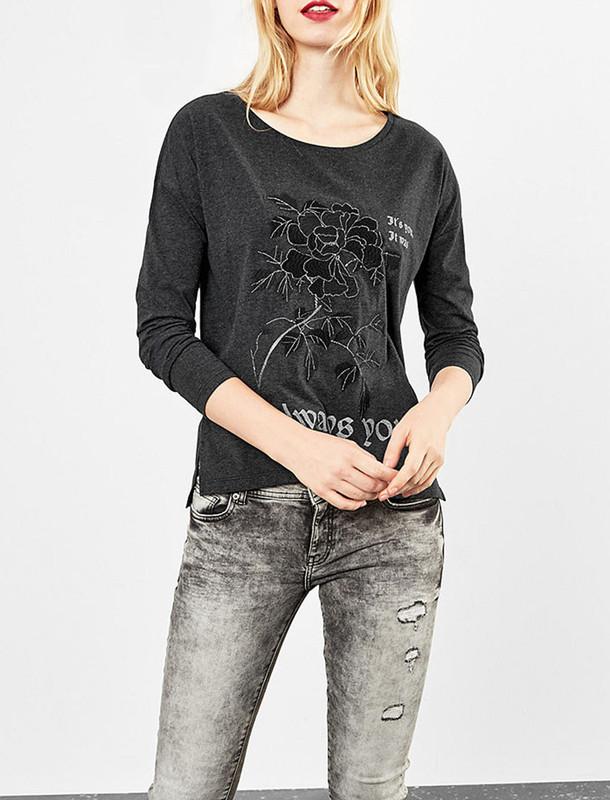 تی شرت نخی آستین بلند زنانه - اس.اولیور