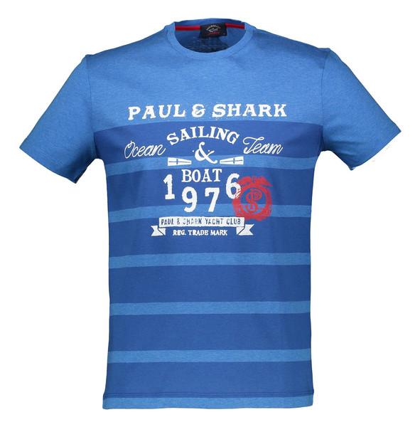 تی شرت نخی یقه گرد مردانه - پاول اند شارک