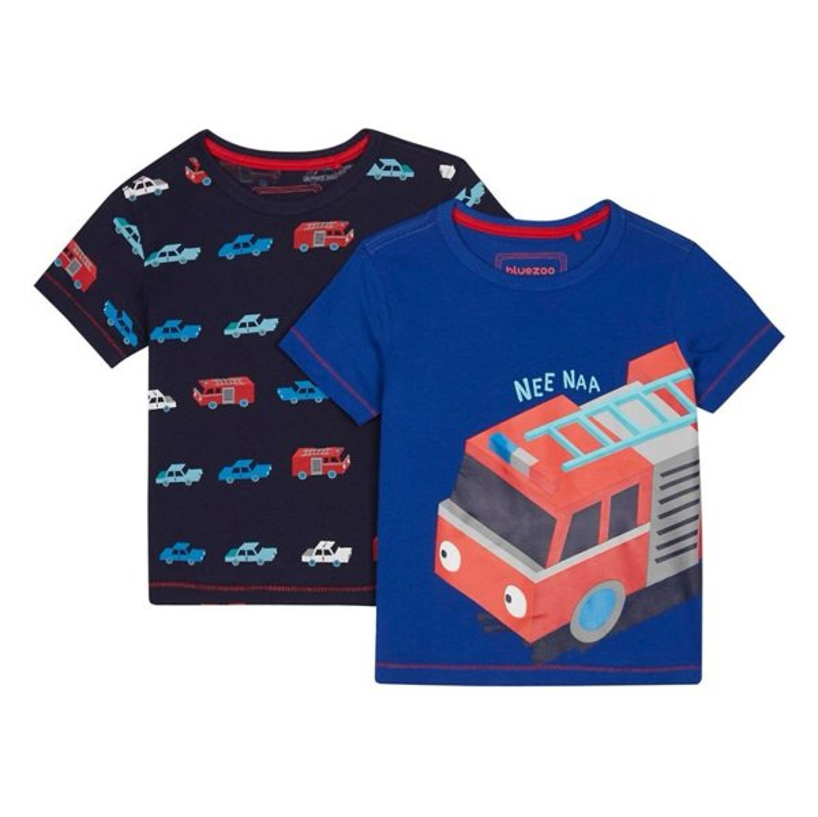 تی شرت نخی یقه گرد پسرانه بسته 2 عدی - بلوزو