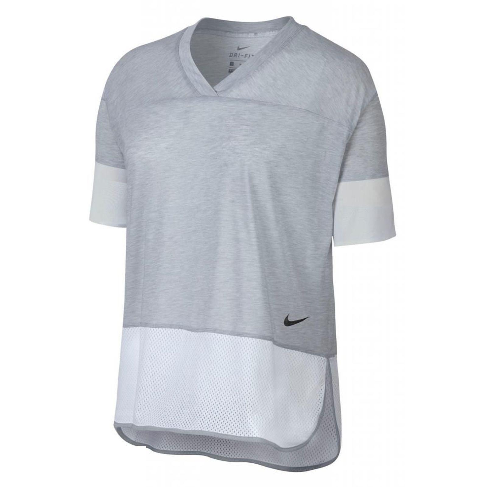 تی شرت ورزشی نخی زنانه - نایکی - طوسي - 3