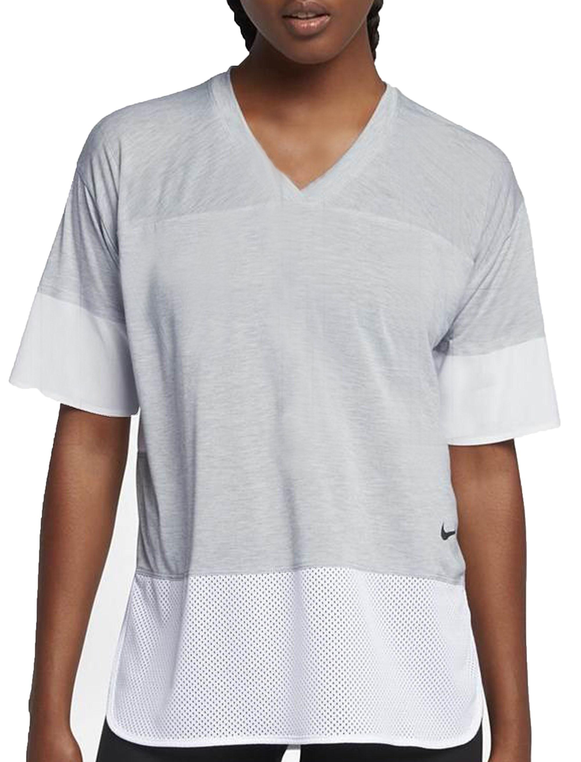تی شرت ورزشی نخی زنانه - نایکی - طوسي - 4
