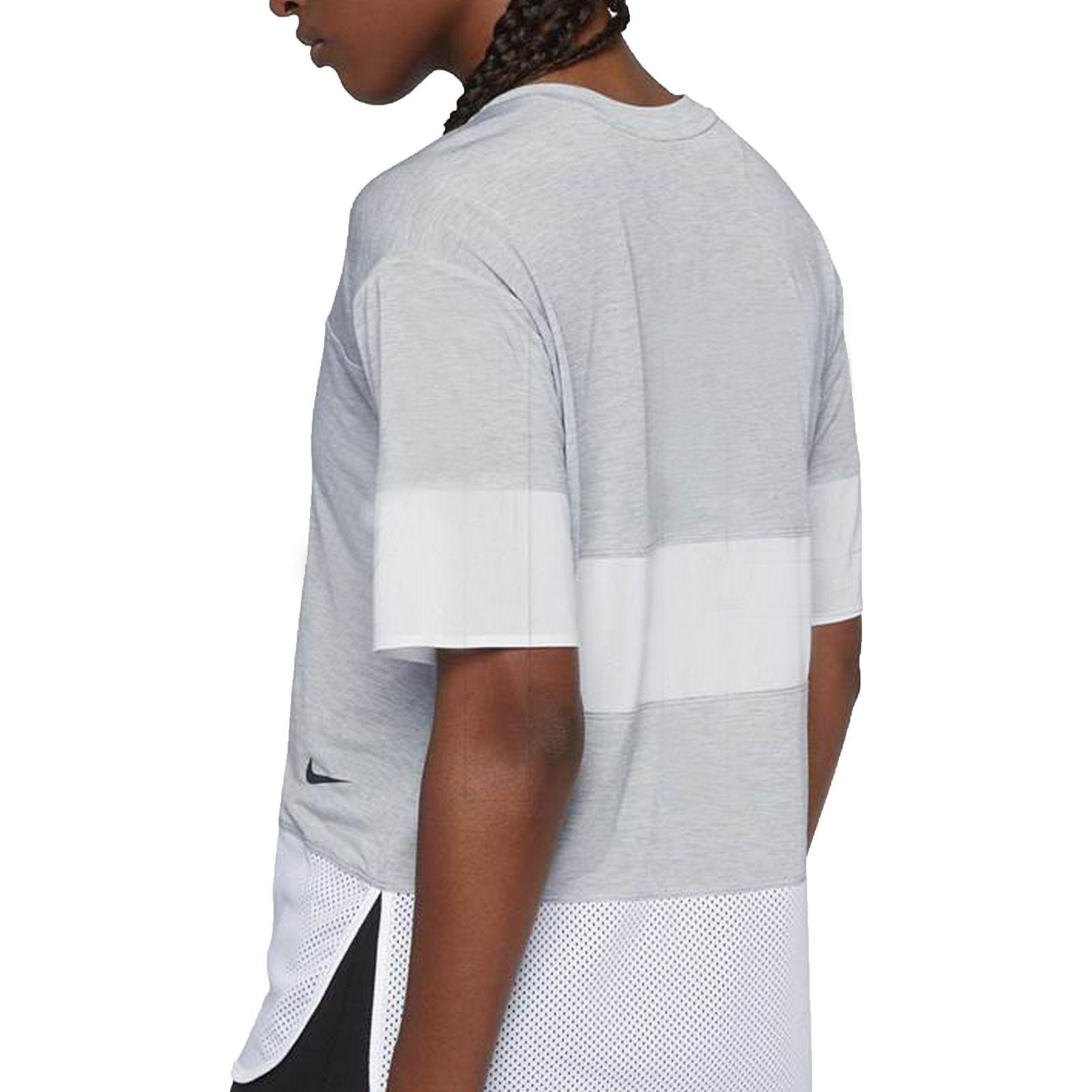 تی شرت ورزشی نخی زنانه - نایکی - طوسي - 5