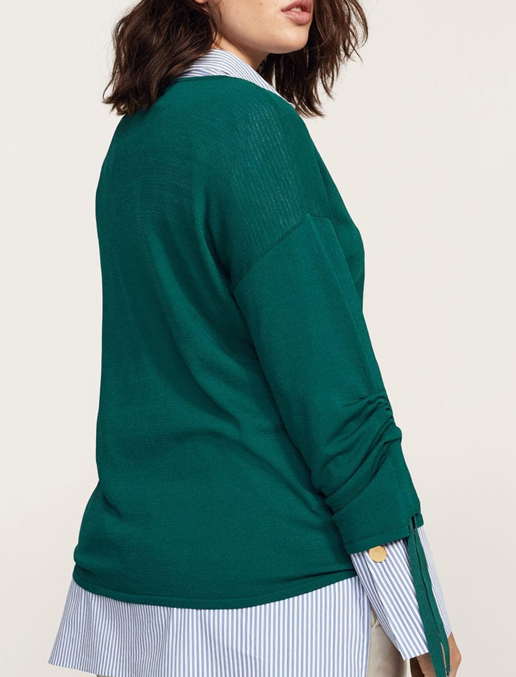 پلیور ویسکوز یقه گرد زنانه - ویولتا بای مانگو - سبز - 3