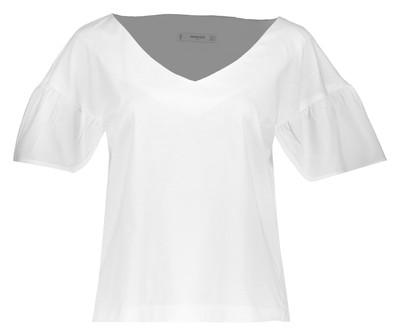 تی شرت یقه هفت نخی زنانه - مانگو