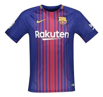 تی شرت ورزشی یقه گرد مردانه Barcelona Home - نایکی