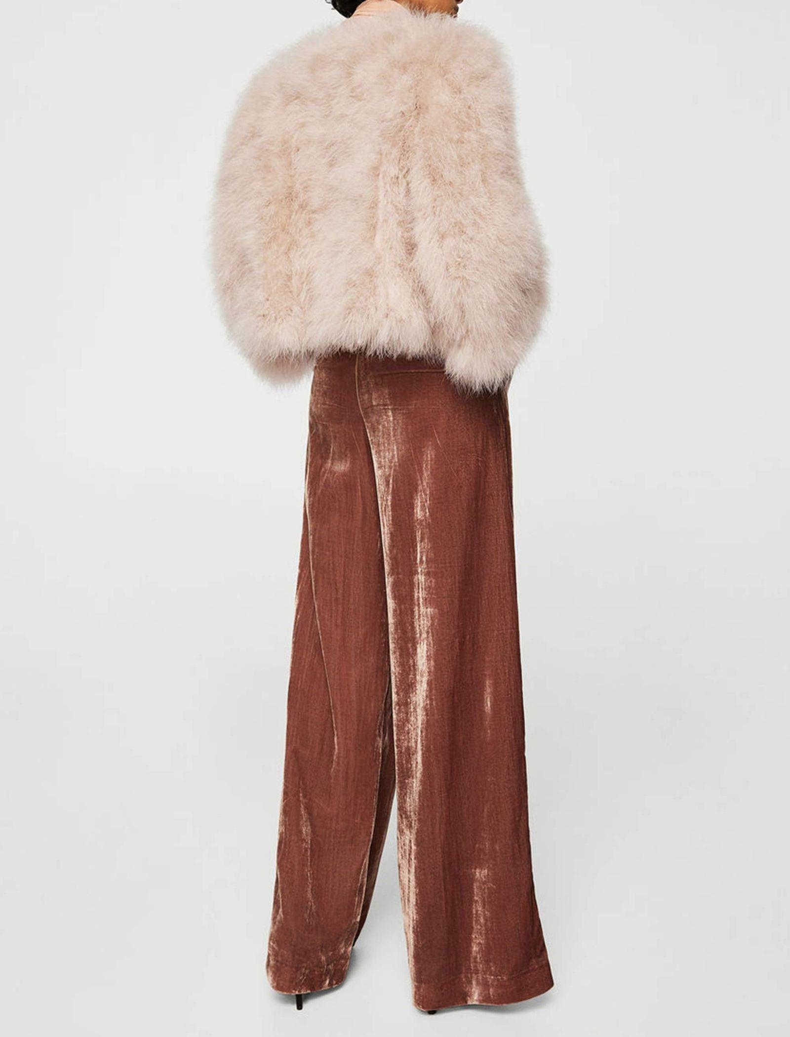 کت پر کوتاه زنانه - مانگو - صورتی - 6