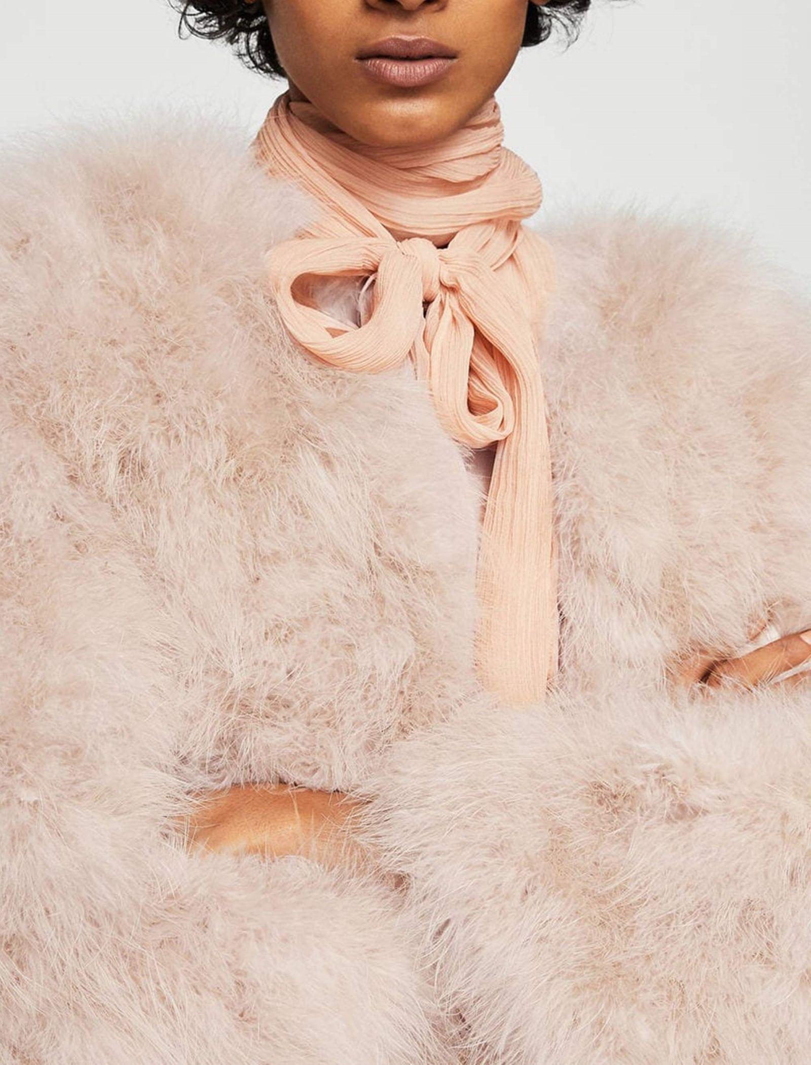 کت پر کوتاه زنانه - مانگو - صورتی - 7
