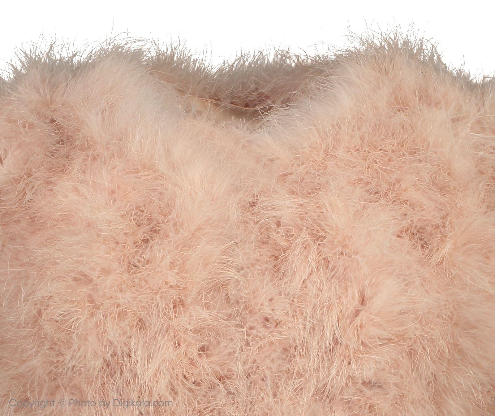 کت پر کوتاه زنانه - مانگو - صورتی - 4
