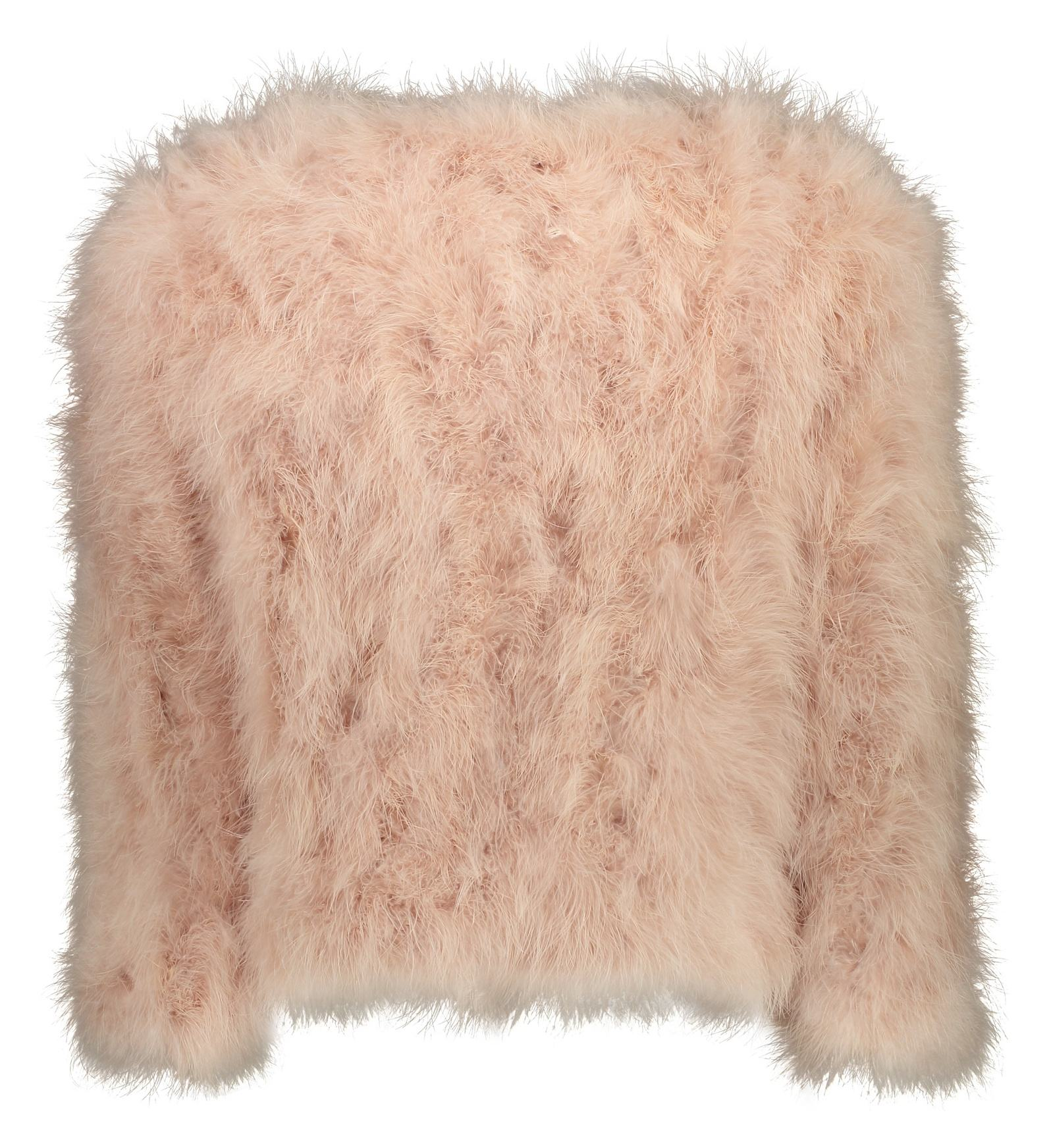 کت پر کوتاه زنانه - مانگو - صورتی - 3