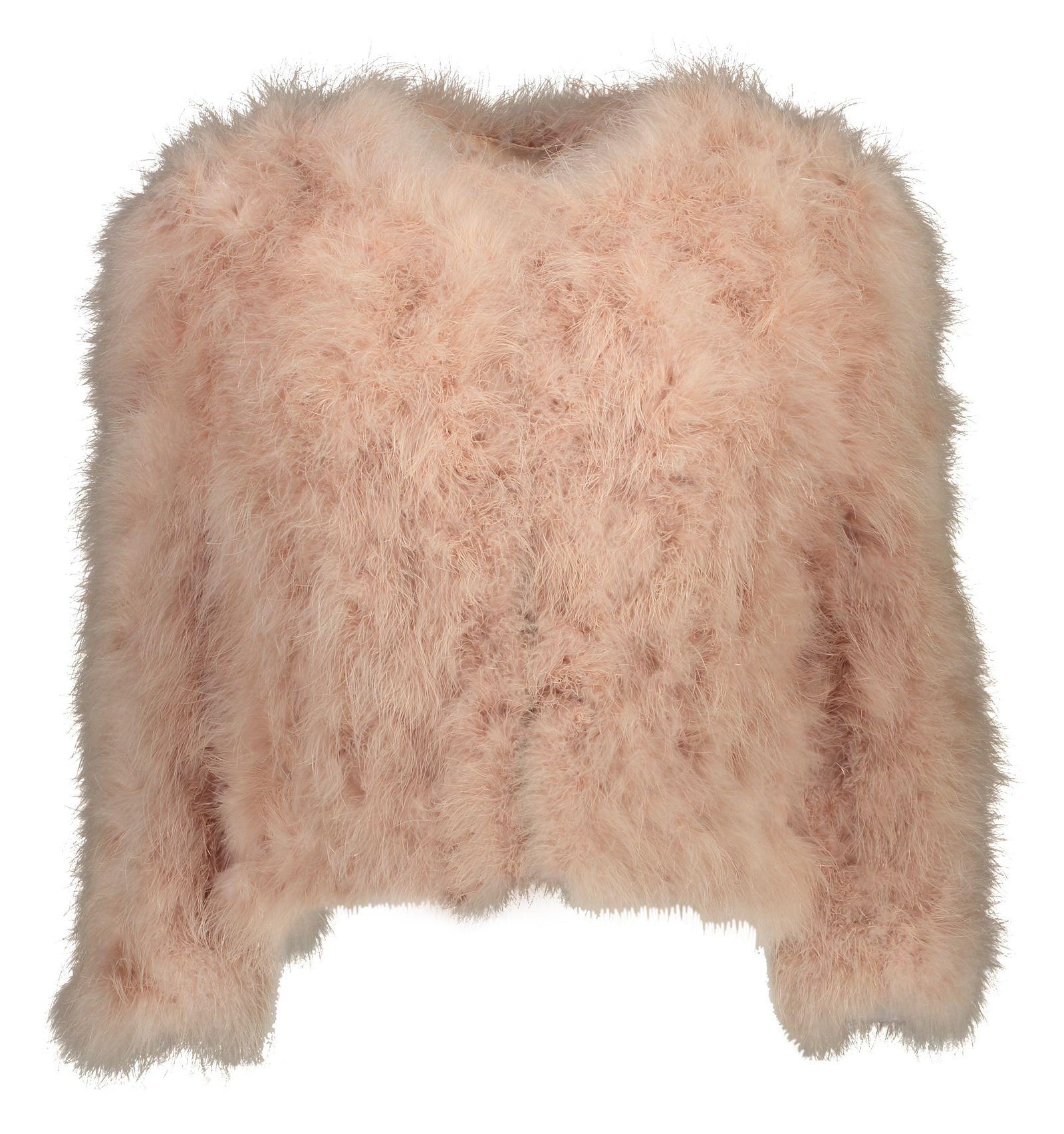 کت پر کوتاه زنانه - مانگو - صورتی - 1