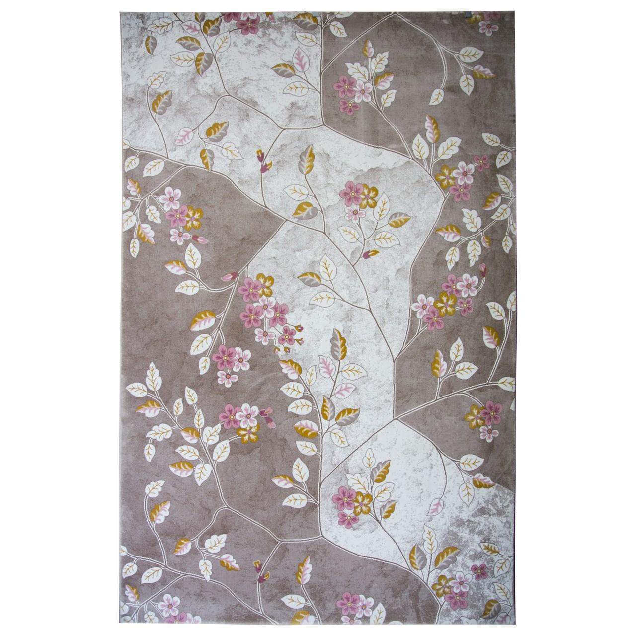 فرش ماشینی ساوین کد 1512 زمینه صورتی