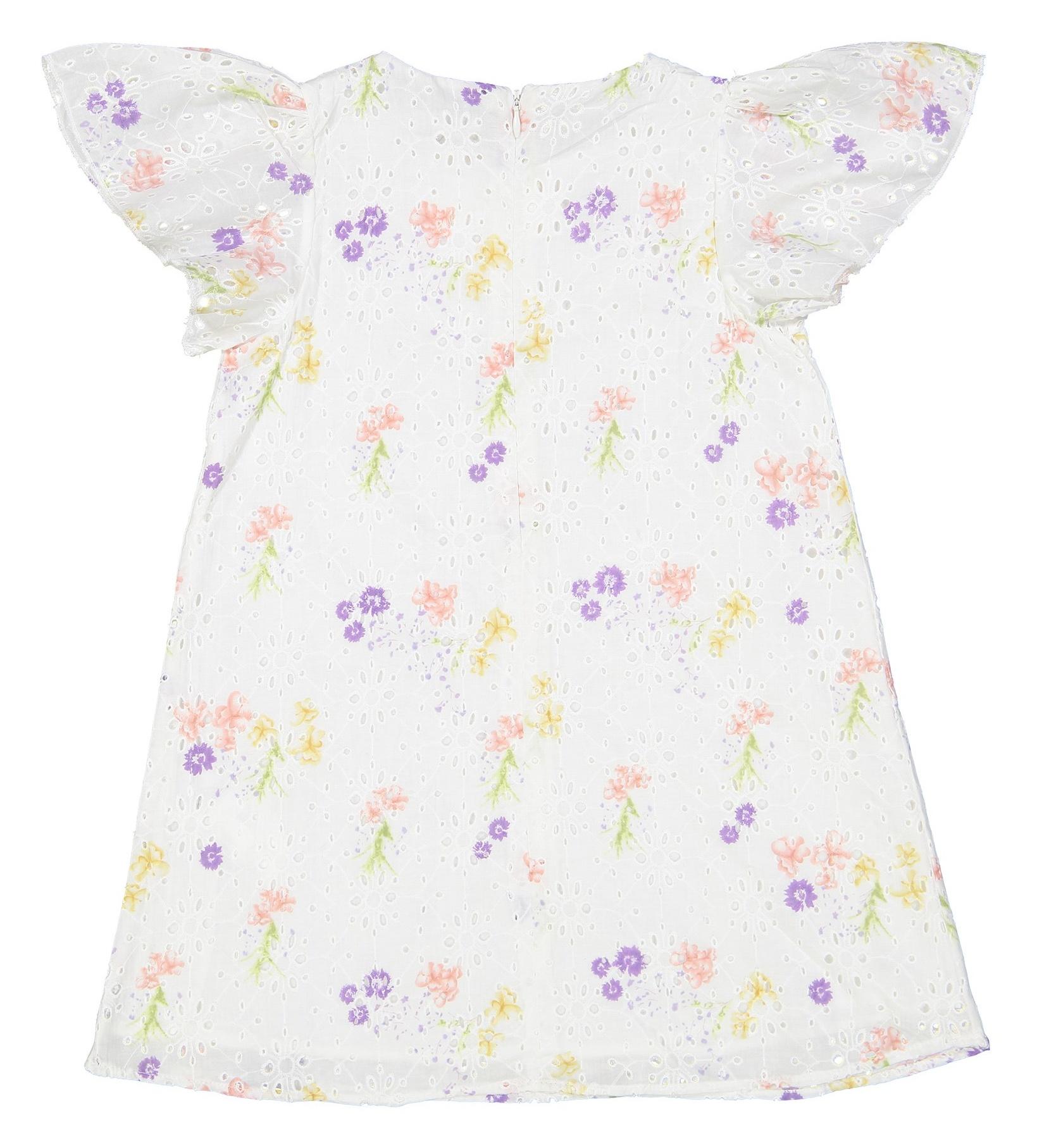 پیراهن نخی روزمره دخترانه - کوتون - سفيد - 2