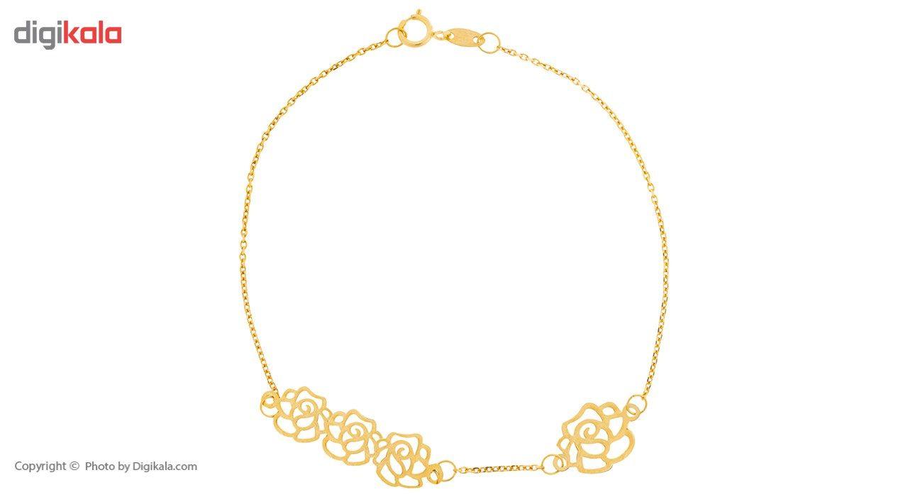 دستبند طلا 18 عیار ماهک مدل MB0196 -  - 2