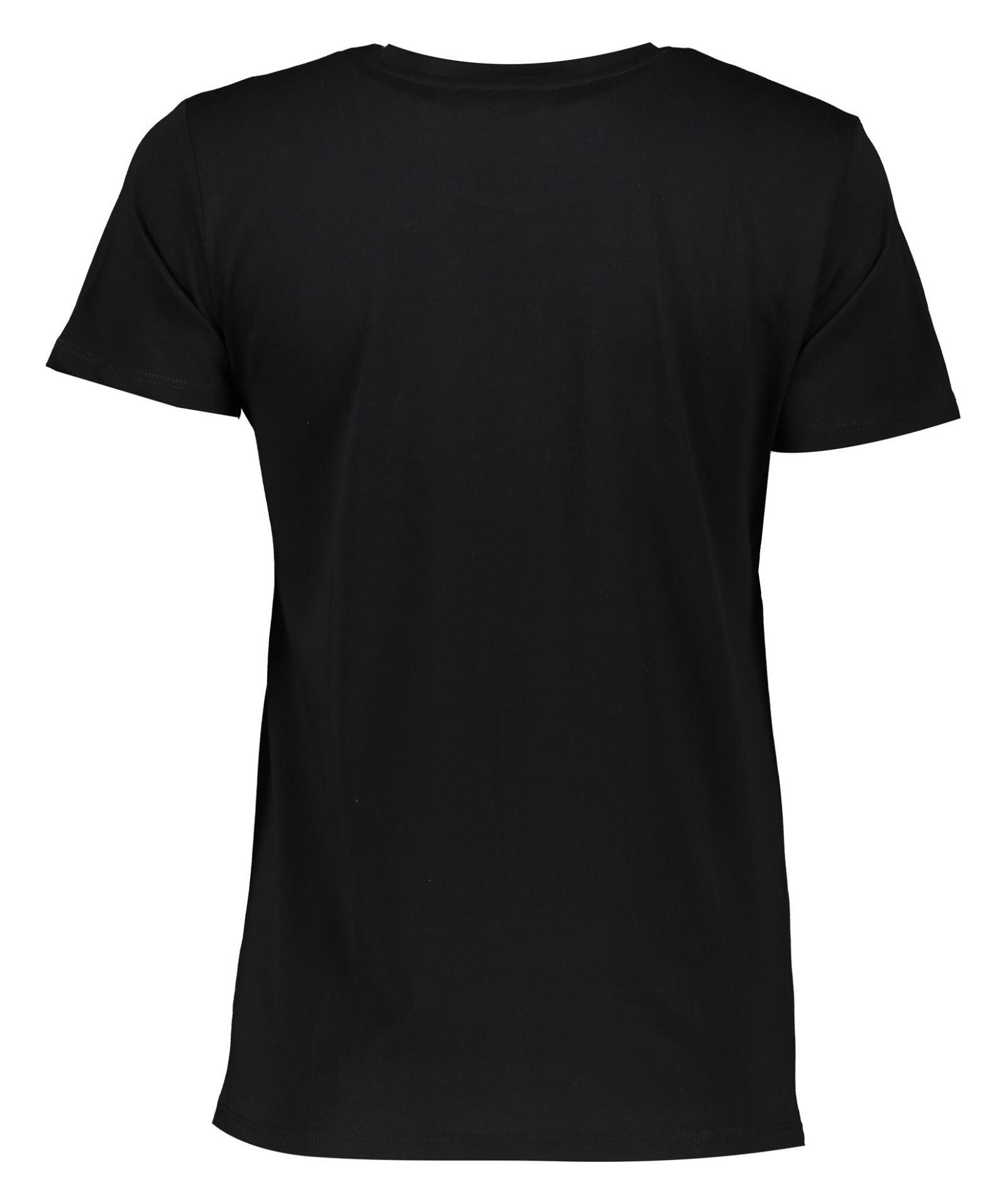 تی شرت نخی یقه گرد زنانه - مانگو - مشکی - 3