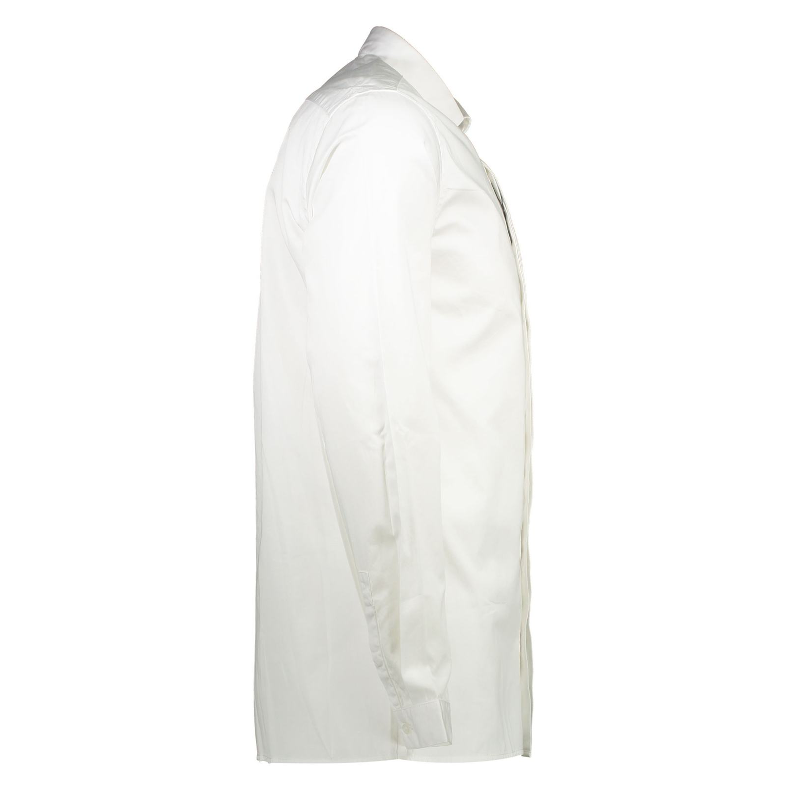 پیراهن نخی آستین بلند مردانه - مانگو - سفيد - 4