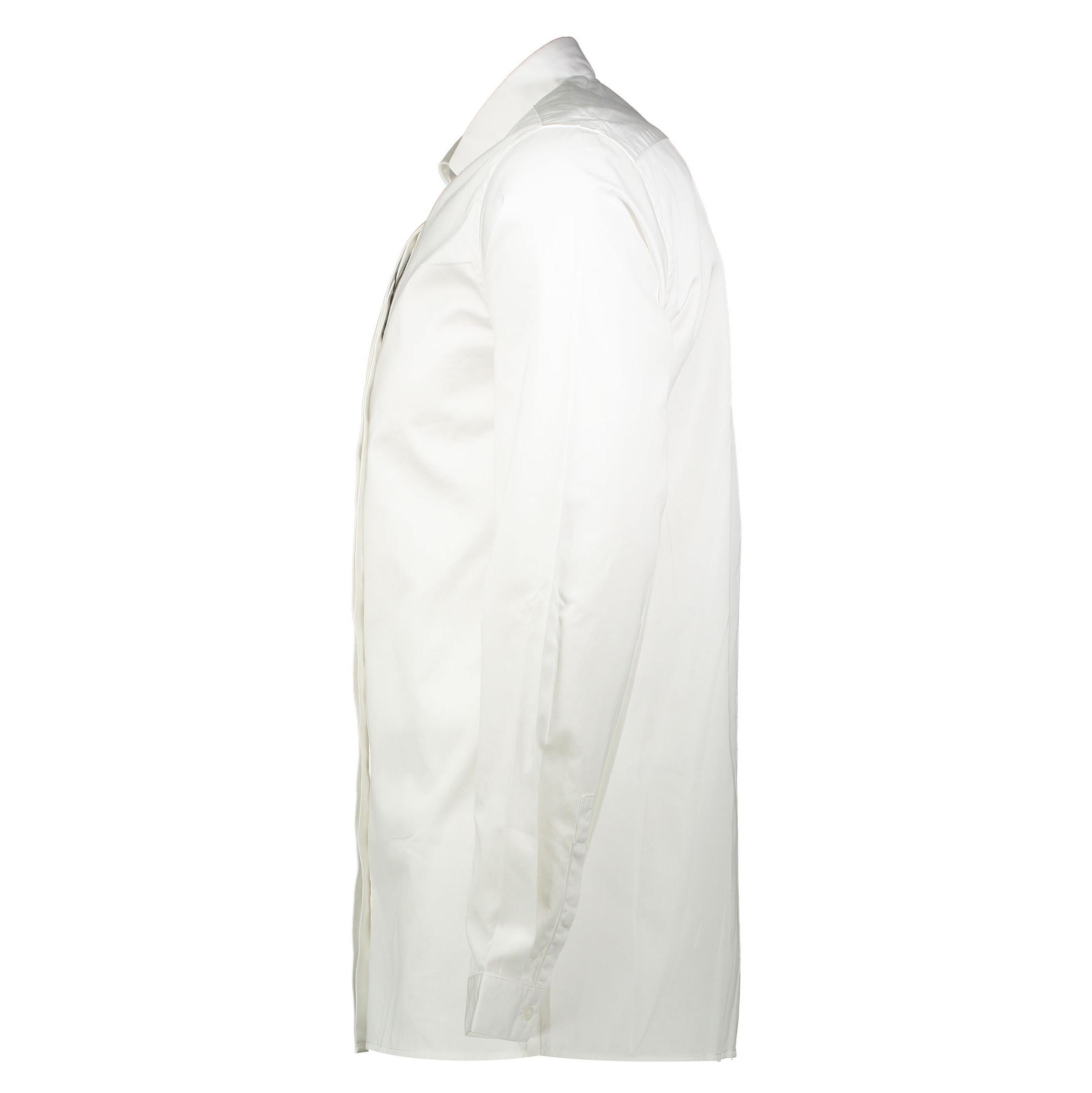 پیراهن نخی آستین بلند مردانه - مانگو - سفيد - 5