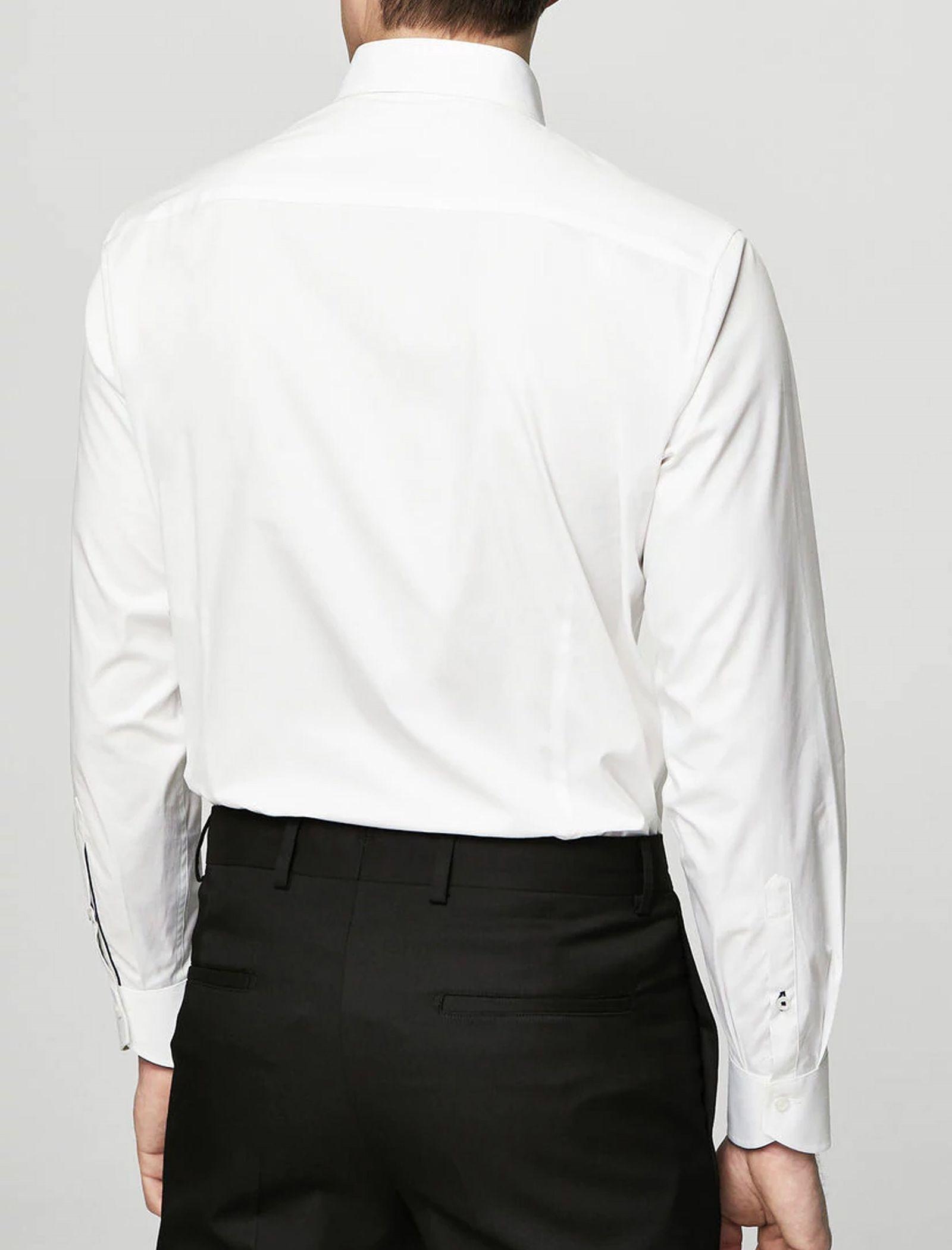 پیراهن نخی آستین بلند مردانه - مانگو - سفيد - 7