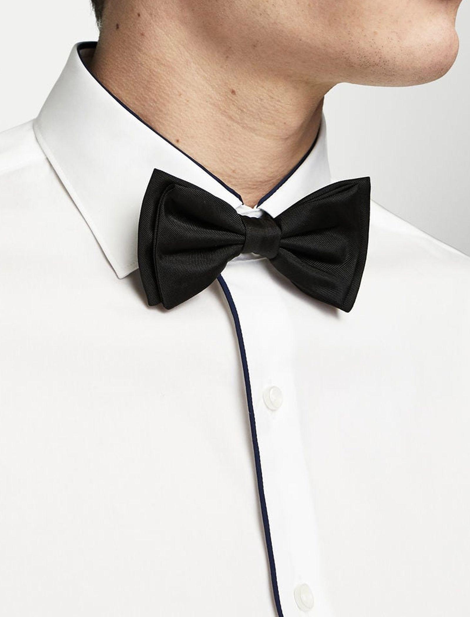 پیراهن نخی آستین بلند مردانه - مانگو - سفيد - 8