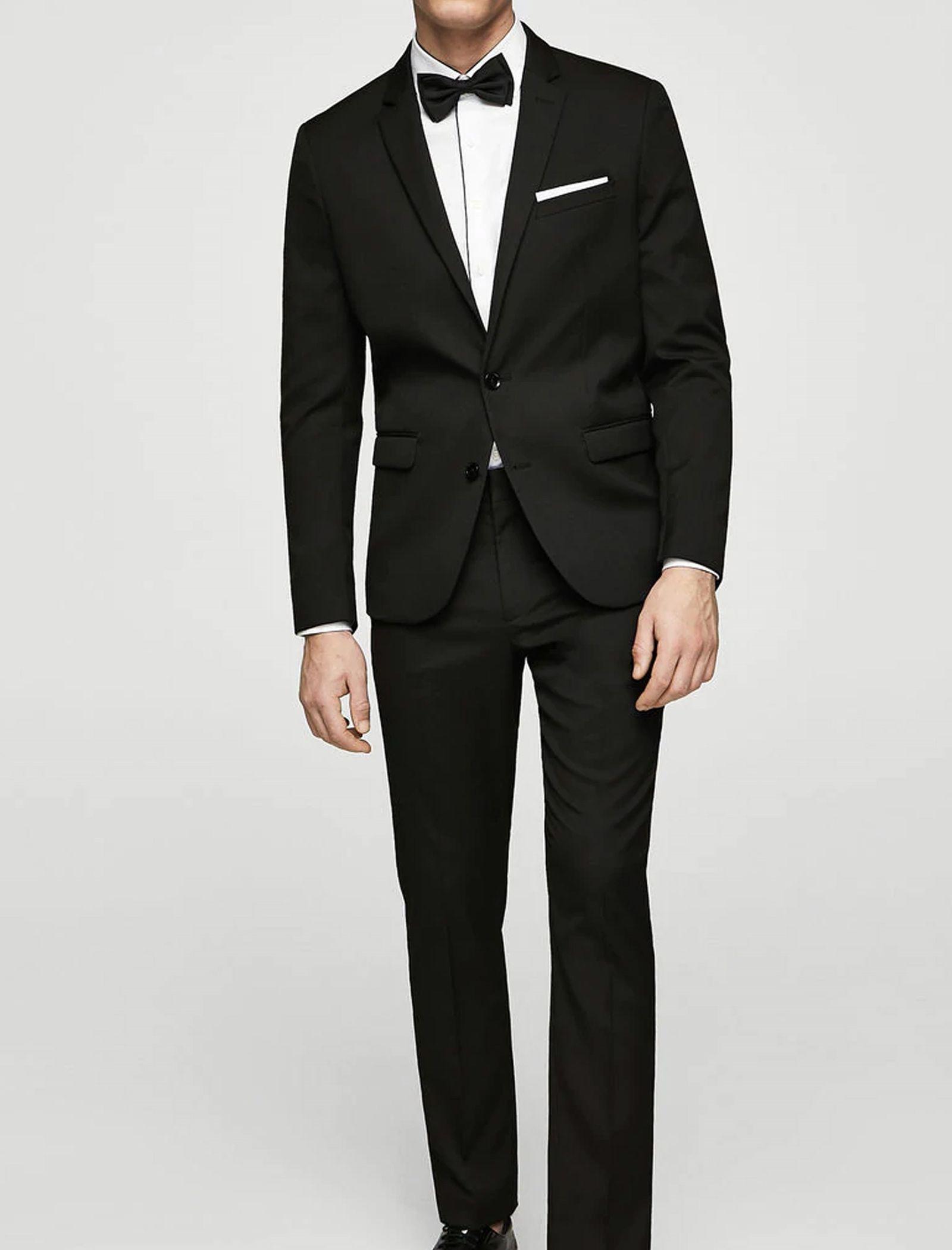 پیراهن نخی آستین بلند مردانه - مانگو - سفيد - 10
