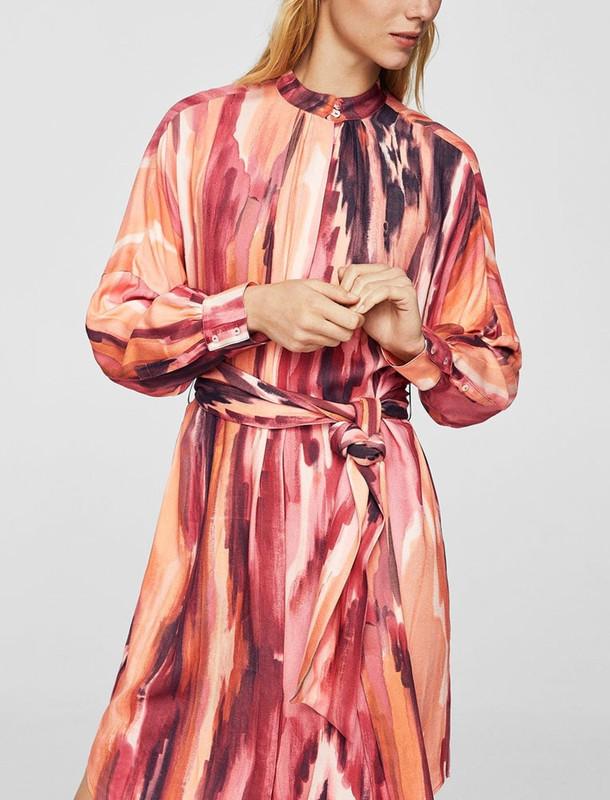 پیراهن ویسکوز میدی زنانه - مانگو