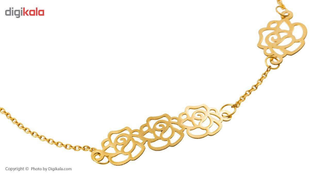 دستبند طلا 18 عیار ماهک مدل MB0196 -  - 1