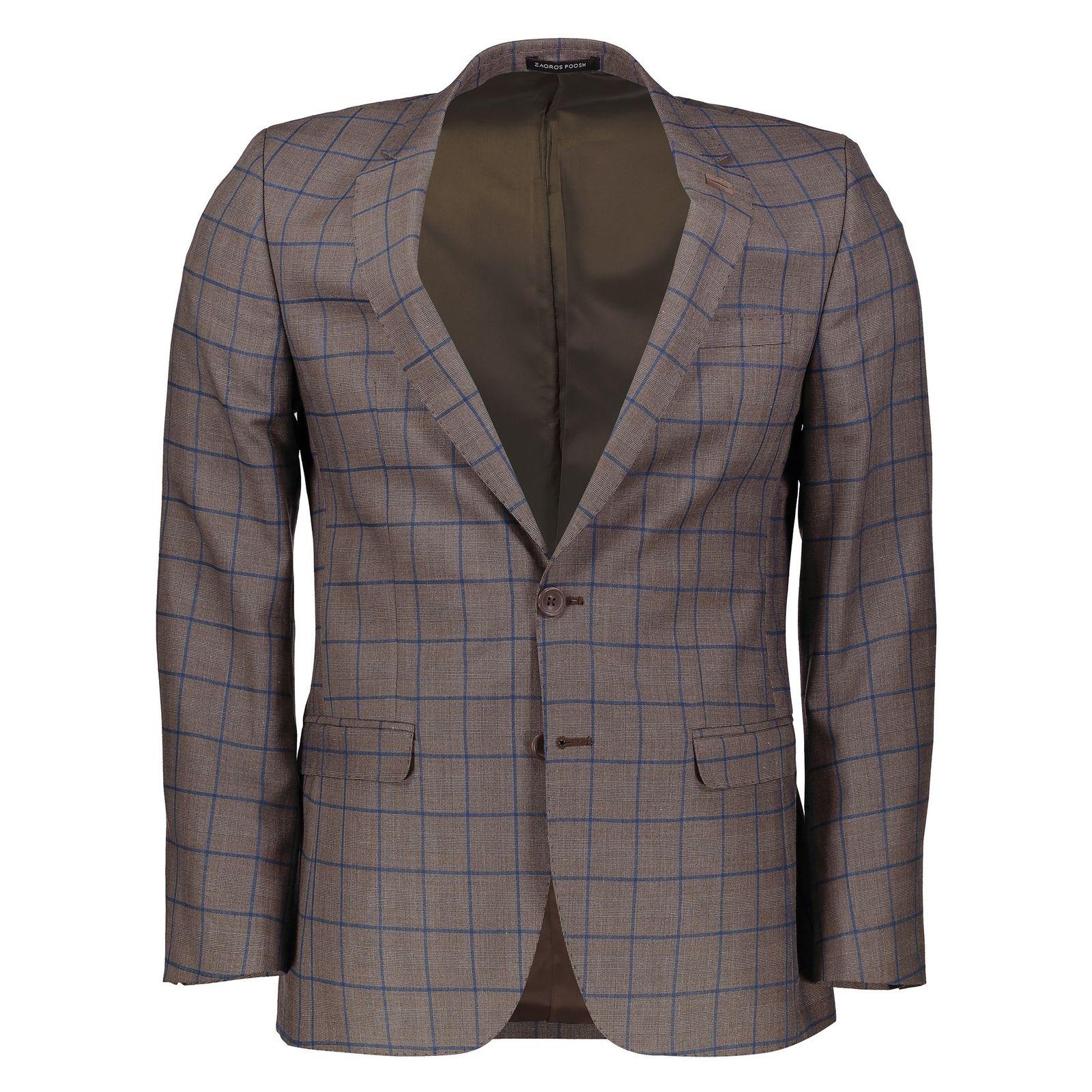 کت تک  غیر رسمی مردانه - زاگرس پوش - قهوه اي روشن - 1