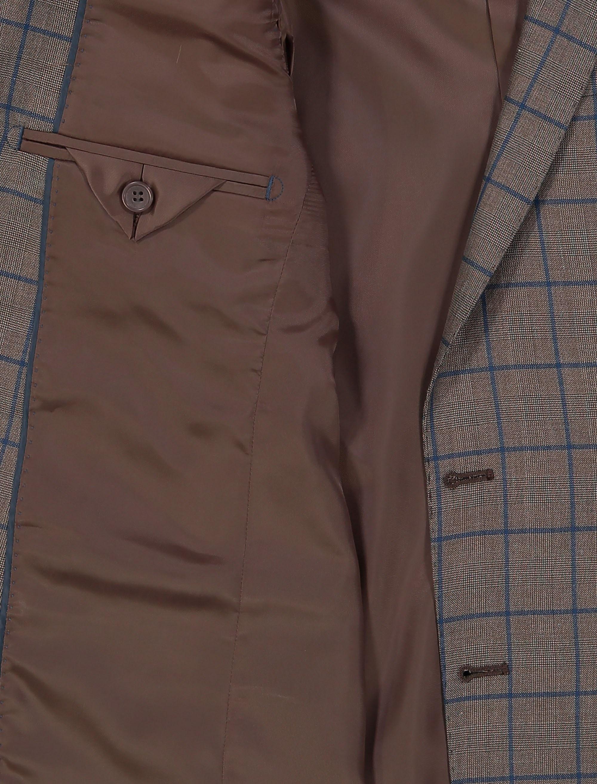 کت تک  غیر رسمی مردانه - زاگرس پوش - قهوه اي روشن - 4
