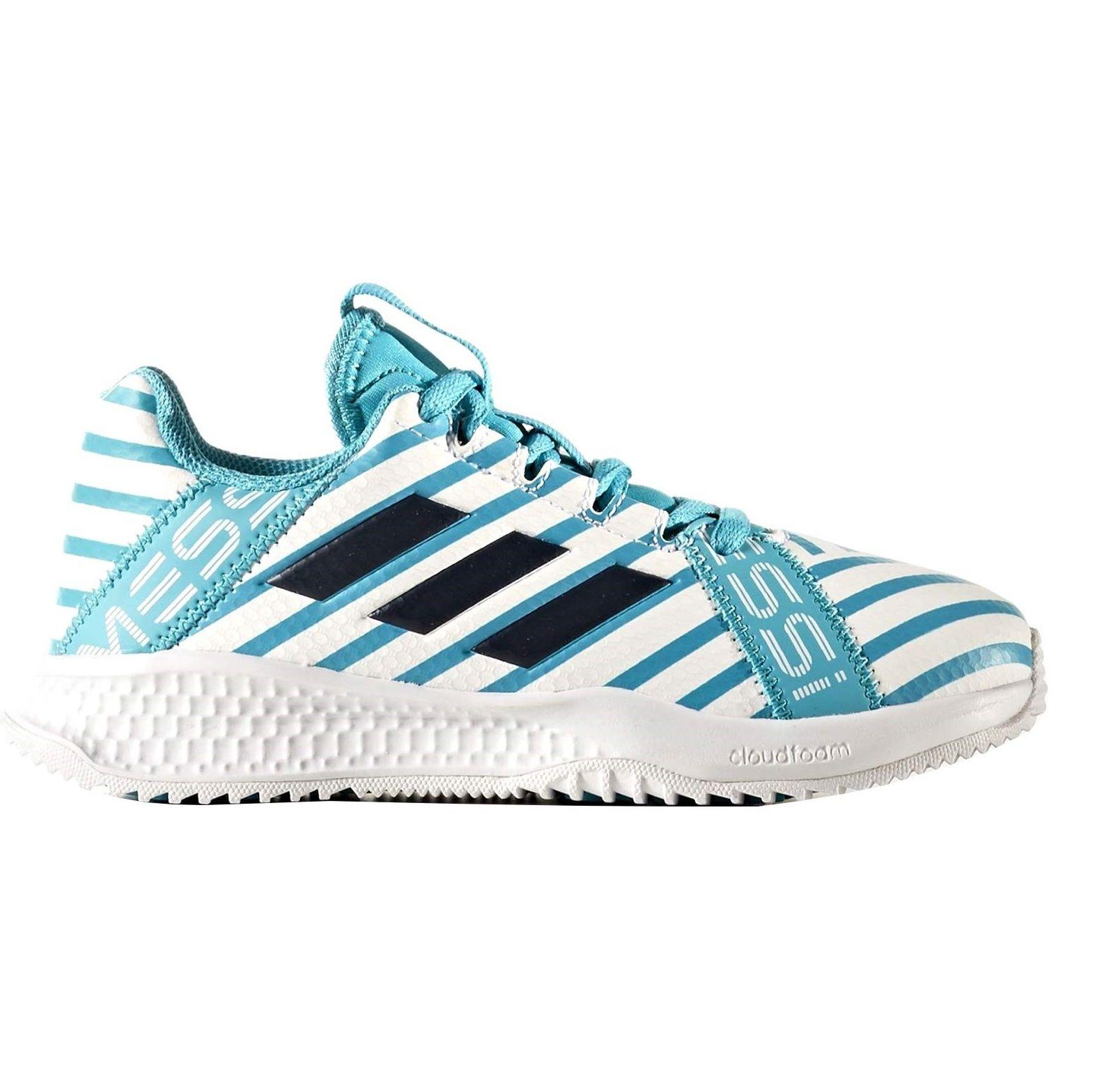 کفش فوتبال بندی پسرانه RapidaTurf Messi - آدیداس - آبی و سفید - 1