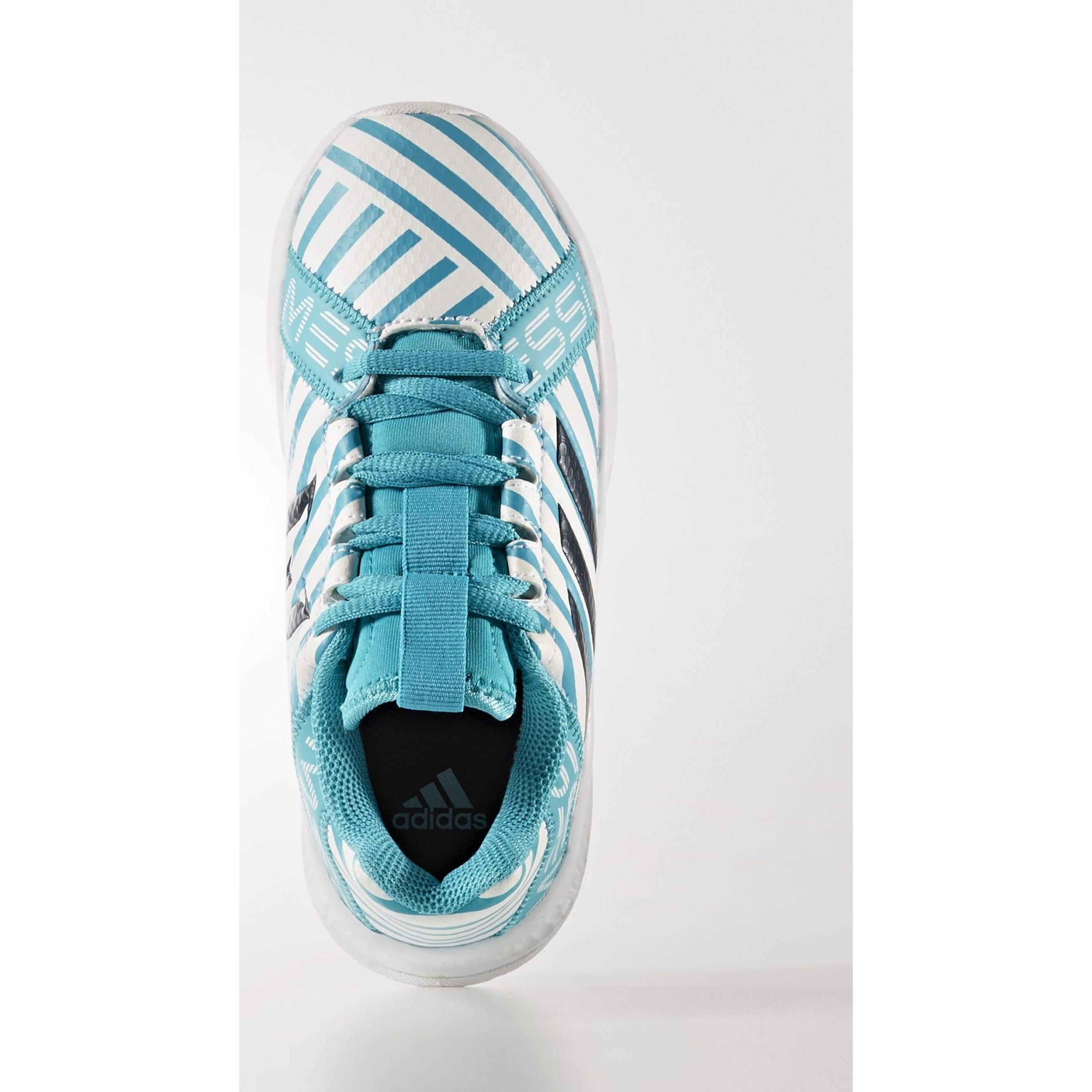 کفش فوتبال بندی پسرانه RapidaTurf Messi - آدیداس - آبی و سفید - 3