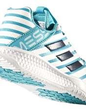 کفش فوتبال بندی پسرانه RapidaTurf Messi - آدیداس - آبی و سفید - 5