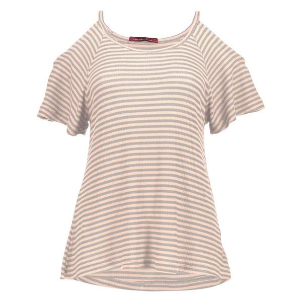 تی شرت ویسکوز یقه گرد زنانه - رامکات