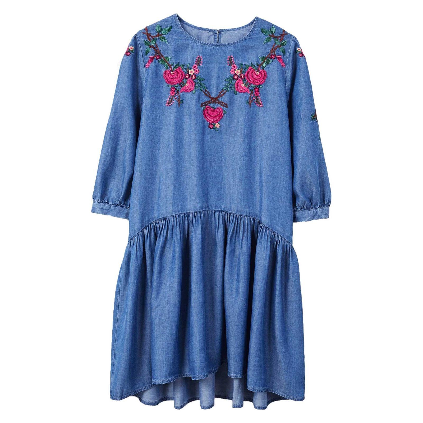 پیراهن کوتاه زنانه - مانگو - آبي - 1