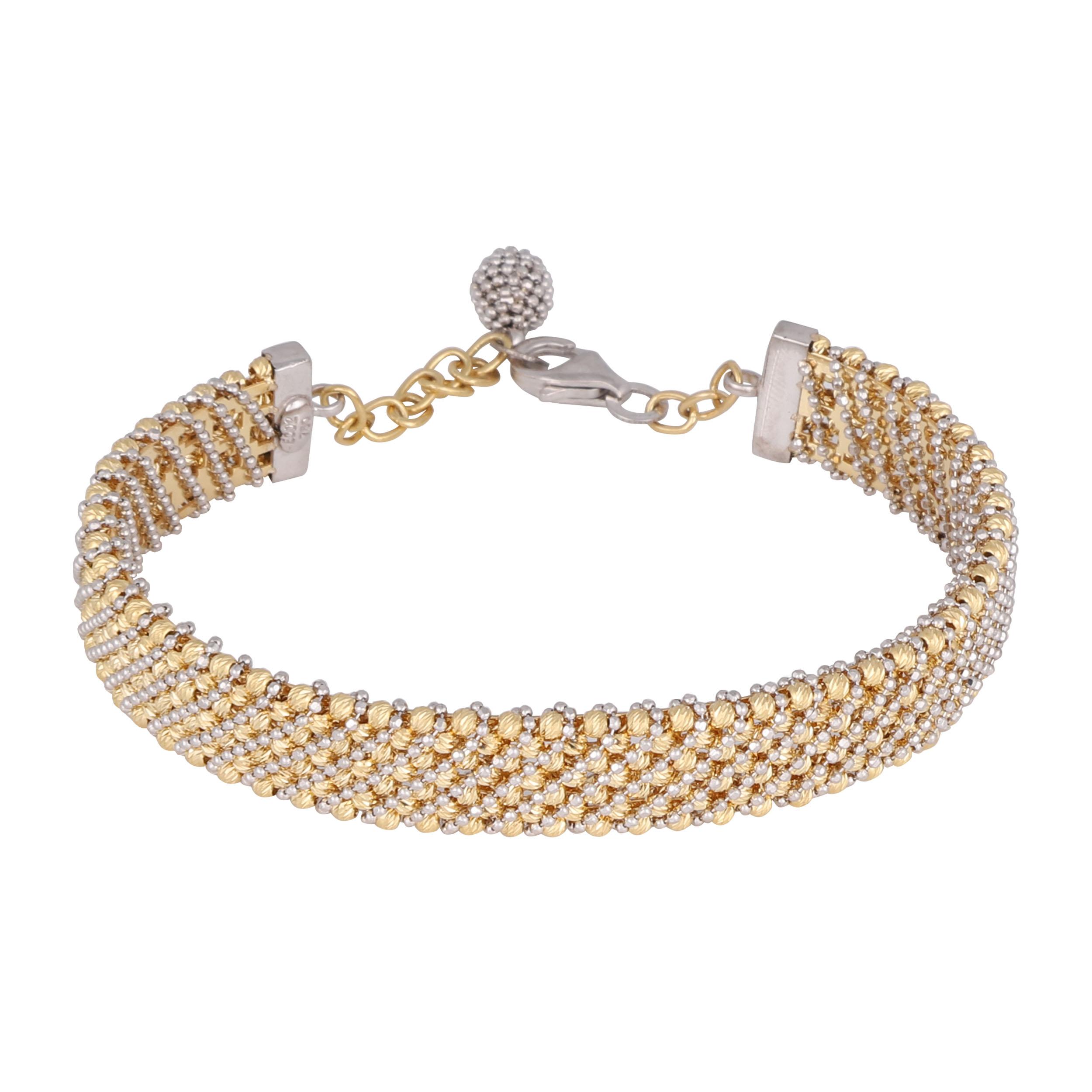 دستبند طلا 18 عیار زنانه کد G609