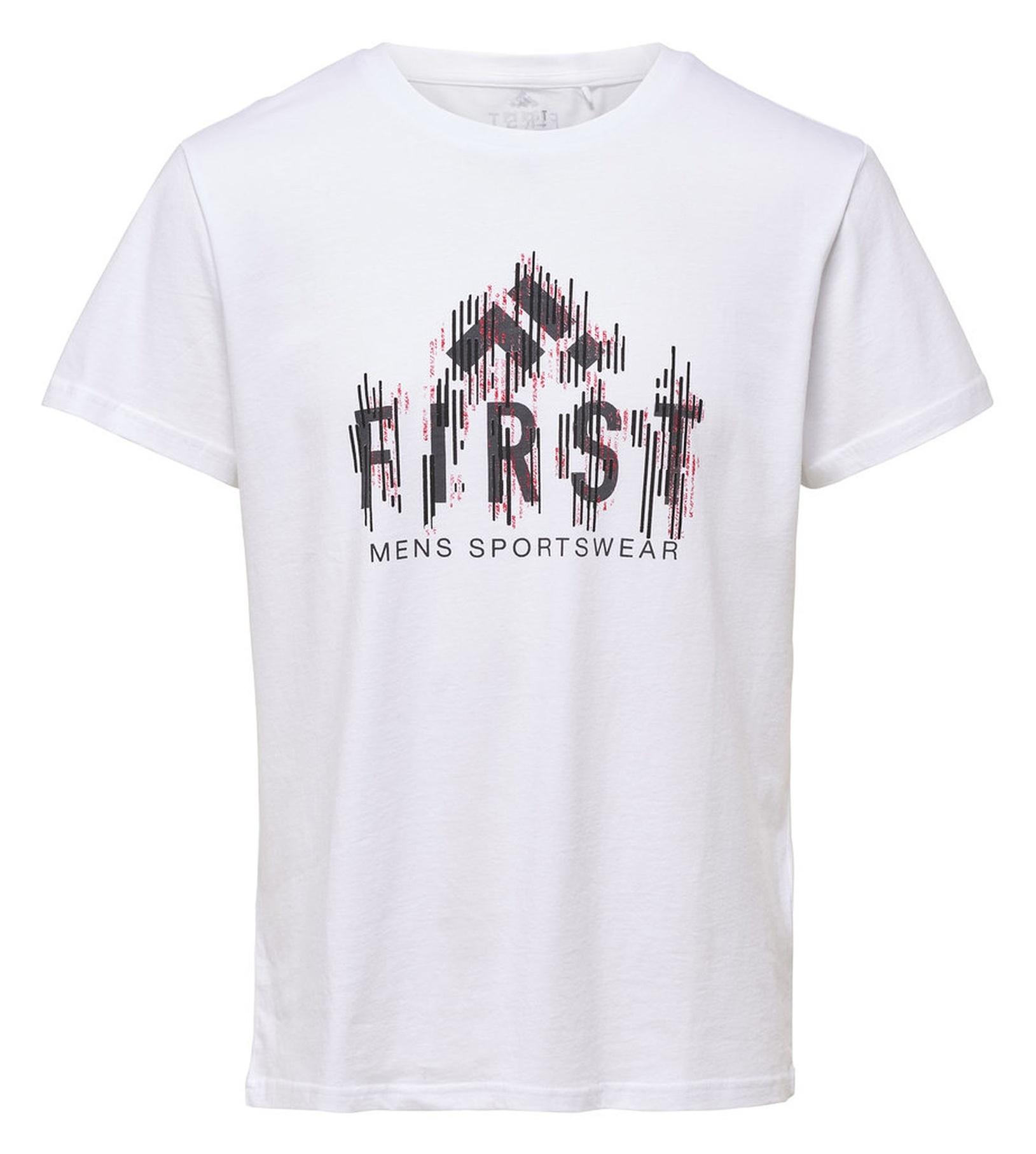 تی شرت ورزشی نخی آستین کوتاه مردانه - فرست