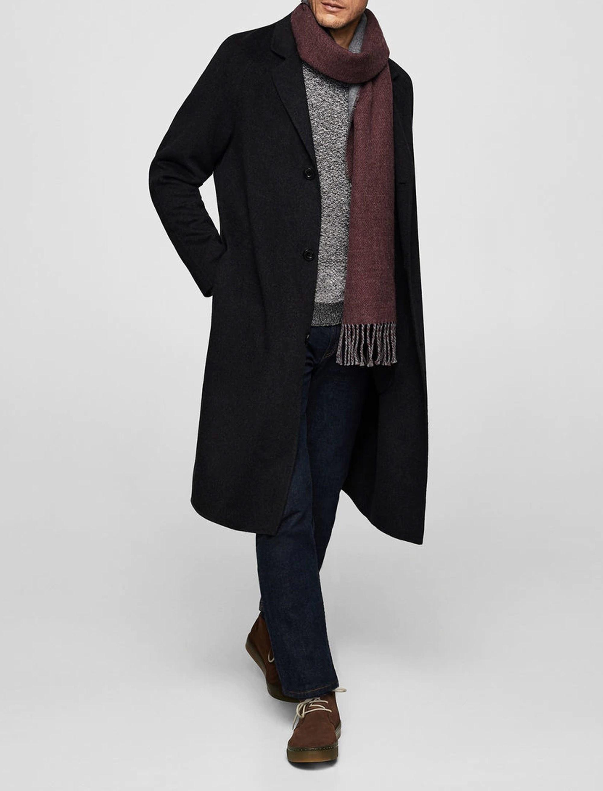پالتو پشمی بلند مردانه - مانگو